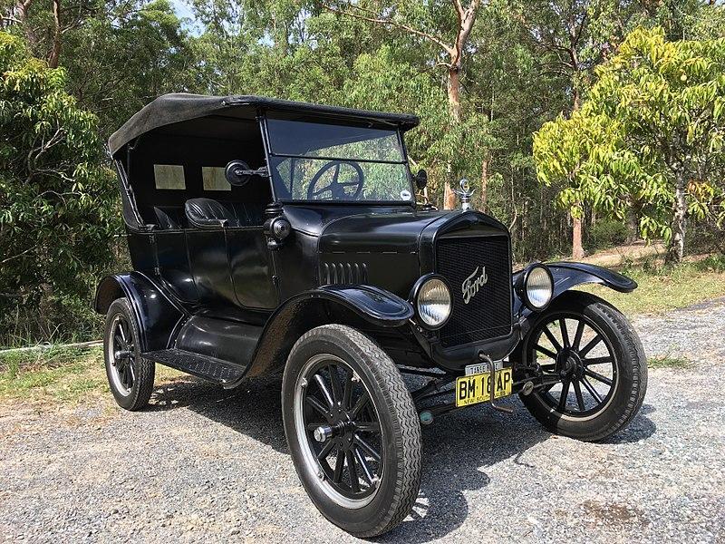 nacimiento de la produccion en serie ford t