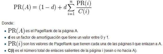 formula algoritmo google