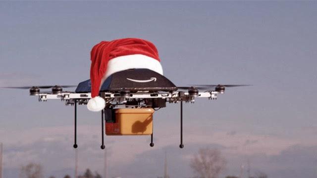 drone papa noel