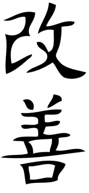diagramas japoneses que componen la palabra kaizen