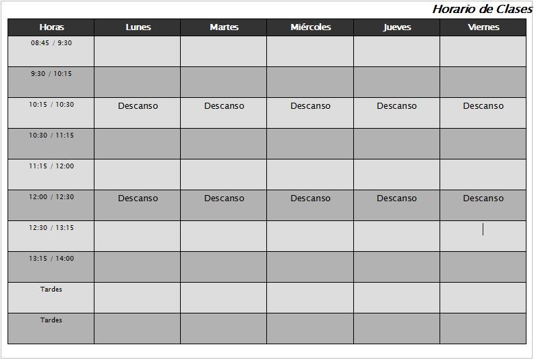 horario de clases - Juve.cenitdelacabrera.co