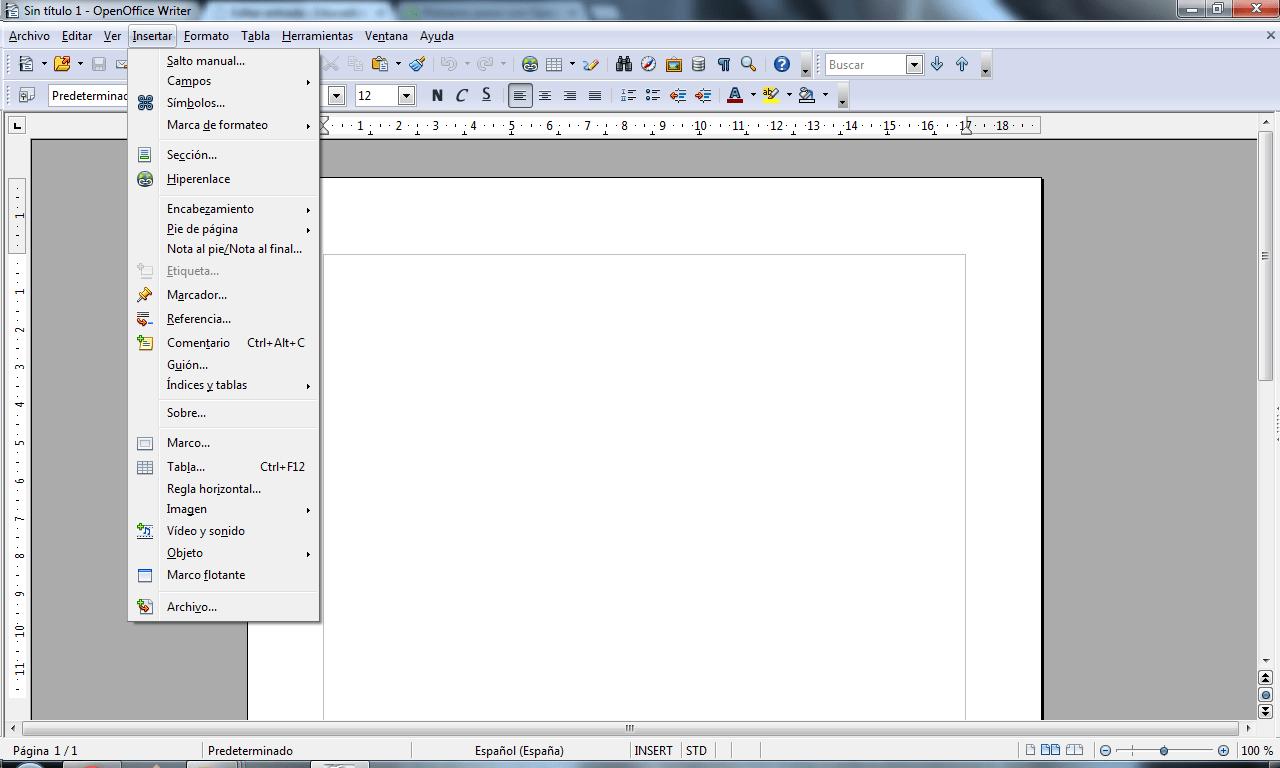 OpenOffice Writer - Primeros pasos: Educación, Tecnología, Cursos ...