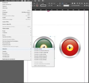 Crear botón Adobe indesign