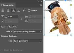 Adobe indesign ceñir texto