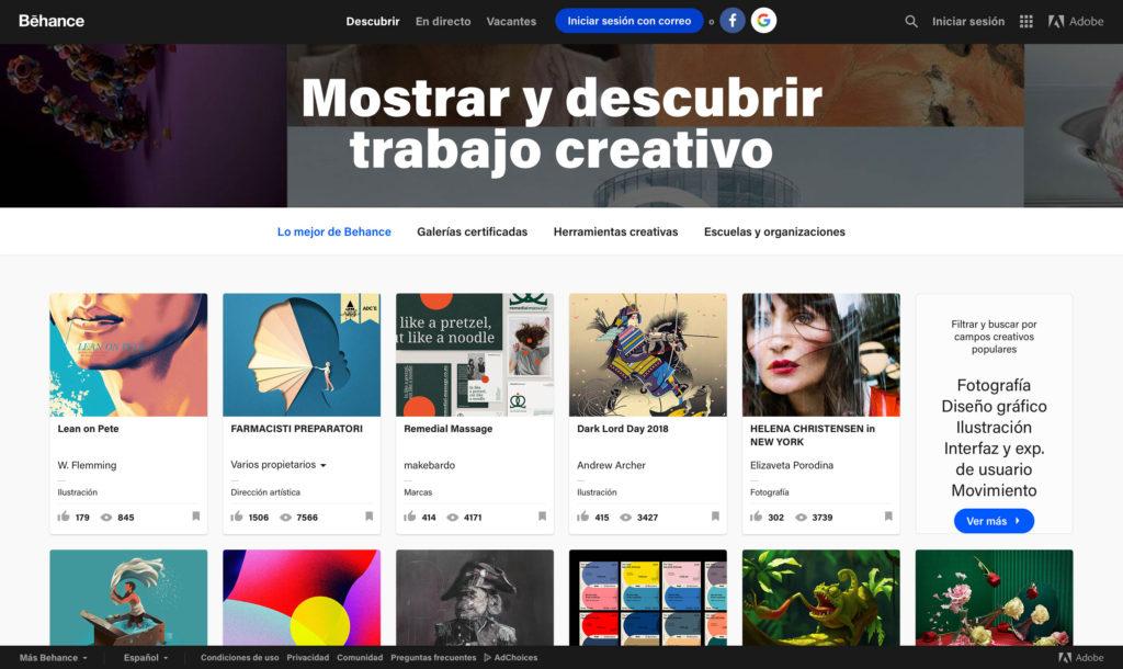 portfolio online con behance