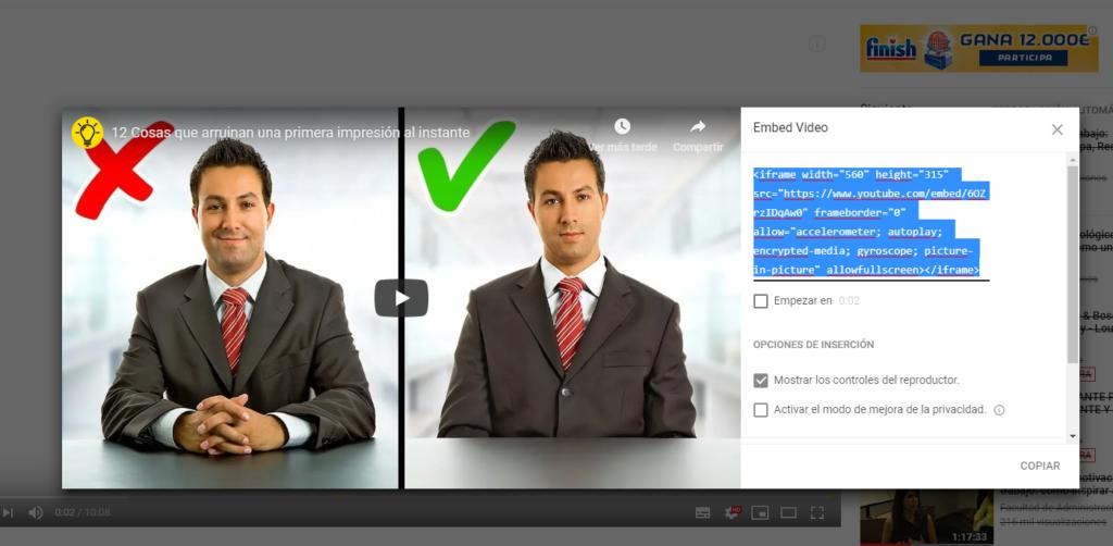 insertar vídeos
