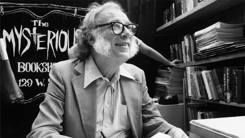 Isaac Asimov, en la librería Mysterious Book Store de Nueva York en 1984.