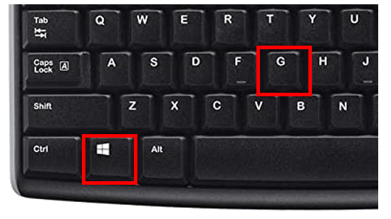 captura pantalla teclado barra de juegos windows 10